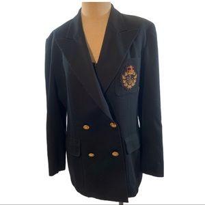 Vintage 90's Ralph Lauren crest blazer boxy SZ.10